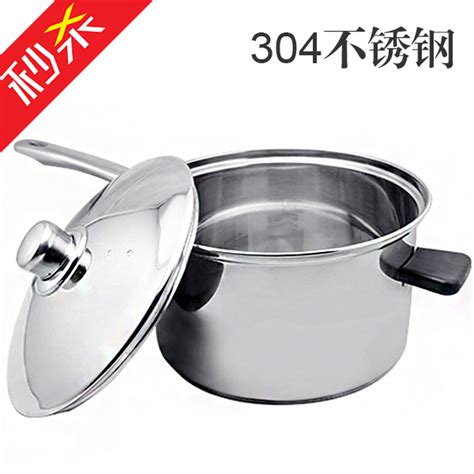 large induction cooking pot 304 stainless steel pot with large capacity soup pot stew steamer milk pan in the kitchen upset