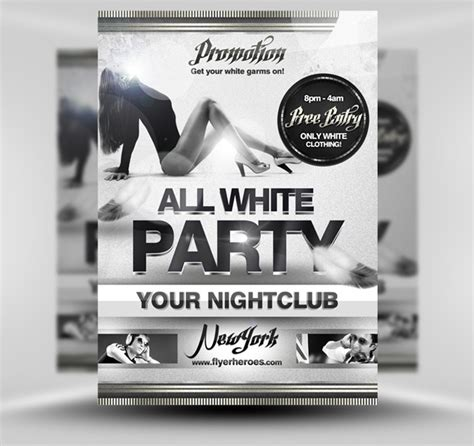 all white flyer template free limited offer get flyerheroes club flyer templates bundles for only 25