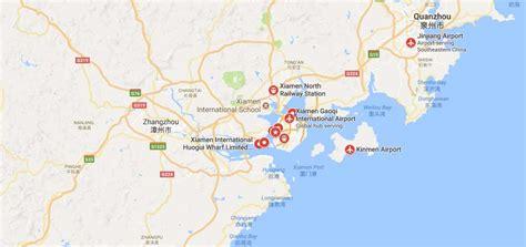 ports  xiamen xiamenport map xiamen container port address