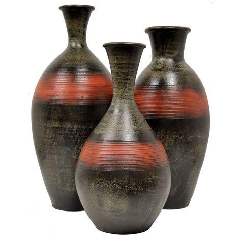 Vase Set Of 3 by Madera Rayado Vases Set Of 3