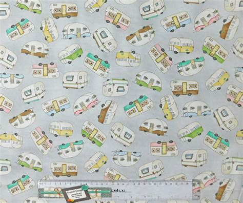 Patchwork And Quilting Fabric - quilting patchwork sewing fabric caravan grey multi cotton
