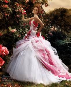 beautiful new wedding gown pink colour