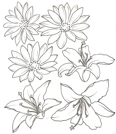 flower outline tattoo black tribal flowers stencil by colorfulcandie