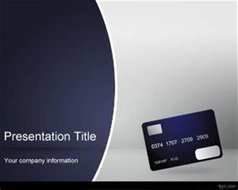 Credit Card Powerpoint Template by Free Powerpoint Template