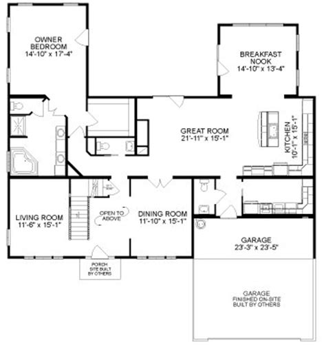 All American Homes Floor Plans | princeton by all american homes cape cod floorplan