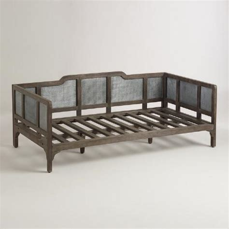 cost plus sofa bed embossed metal and wood liza daybed from cost plus world