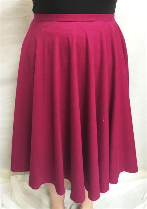 Skirt Pattern Knit Fabric | alison glass knit midi length circle skirt harts fabric
