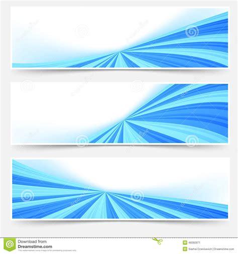 book header design vector blue stream swoosh header footer web set stock vector