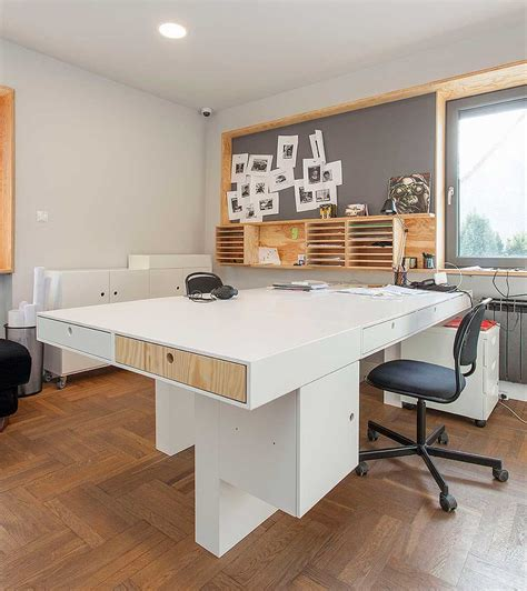 design milk office a modern office in poland with modular elements made of