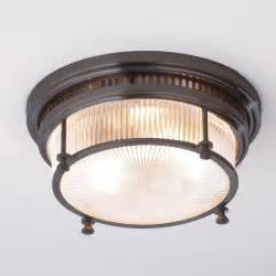 Flush Mount Ceiling Light Fresnel Glass Industrial Flushmount Ceiling Light Flush Mount Ceiling Lighting By Shades Of