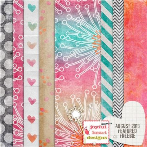 tutorial creating digital scrapbook paper featured designer freebie paint hearts papers digi