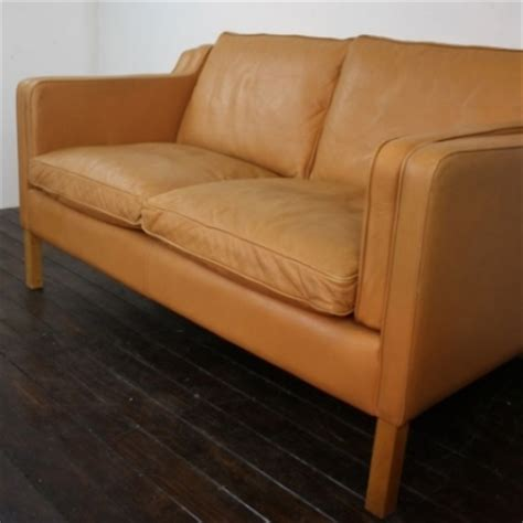light tan leather couch mogensen style 2 seater light tan leather stouby sofa