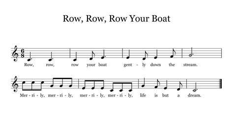 the yellow brick road music education blog - Row Your Boat Time Signature