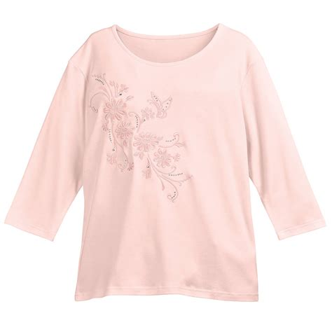 Embroidered Sleeve Knit Top 3 4 sleeve embroidered top knit top s top
