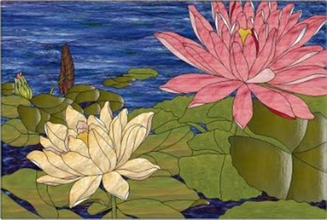 mosaic lily pattern lily pond pattern 32 x 21 5 free pdf pattern at website