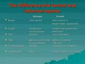 Report And Letter Difference How Do Formal And Informal Report Writing Differ Updated 2017 Quora