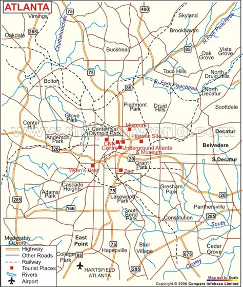 atlanta map usa 29 luxury map of atlanta afputra