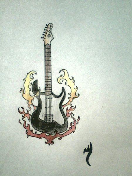 tattoo design gitarre bild kunst von eisengrimm bei