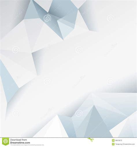 design background leaflet white and blue polygonal design stock vector