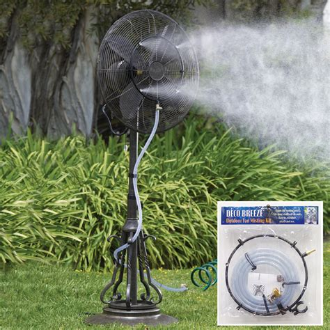 deco breeze outdoor fan misting kit my cooling store