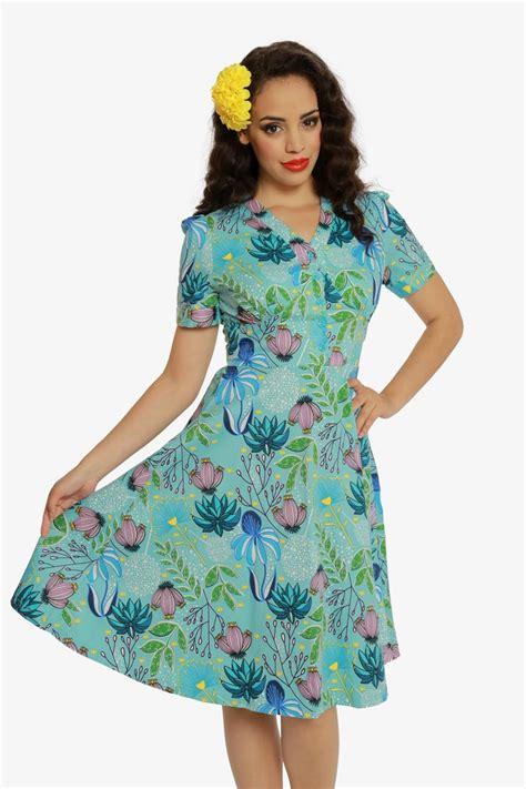 Allover Floral Prints Flatter Lifestyle Magazine 2 by Tiki Floral Tea Dress Lindybop
