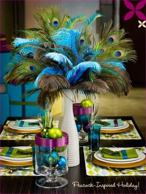peacock wedding peacock centerpiece table coordination
