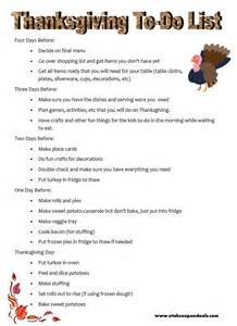 thanksgiving to do list take the stress out by planning