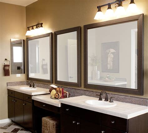 decorative bathroom vanity mirrors in elegant bathroom