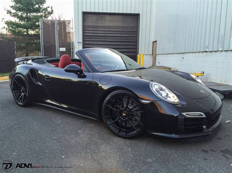 porsche black rims porsche 991 turbo s adv6 2 m v2 cs concave wheels