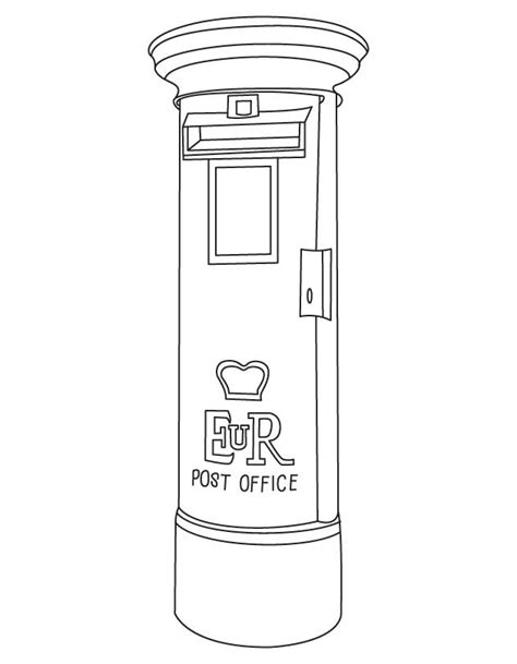 Coloring Pages Of Letter Box | typical letter box coloring page download free typical