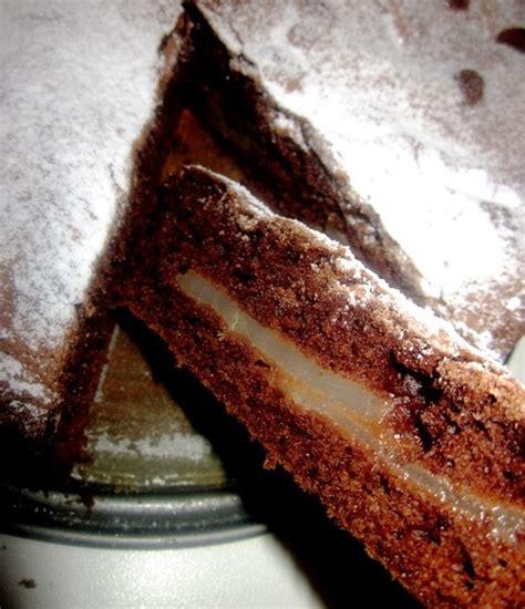 la torta di pere e cioccolato testo torta al cioccolato e pere prima pagina