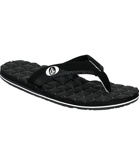 Volcom Recliner Sandals Volcom Recliner Creedler Black Sandals