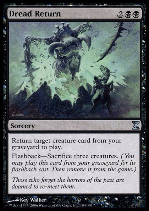 Best Buy Gift Card Return - dread return sorcery cards mtg salvation