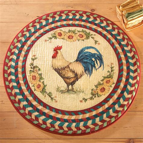 kitchen rooster rugs