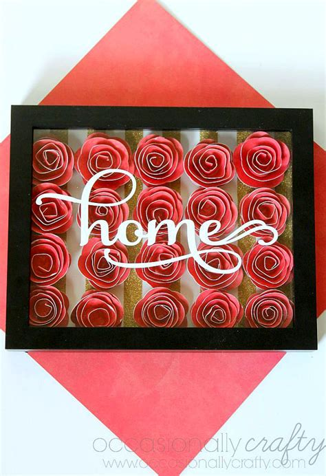 paper flower shadow box tutorial rolled paper flower shadowbox occasionally crafty