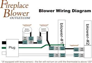 wiring diagram fireplace blower outlet