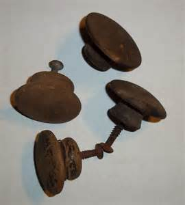 4 four primitive wood wooden drawer pulls replacement