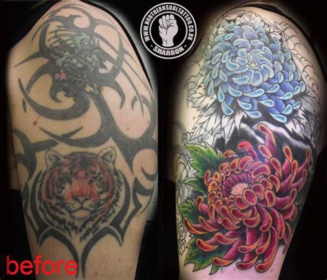 tribal tattoo cover ups before and after best 25 tribal cover up ideas on