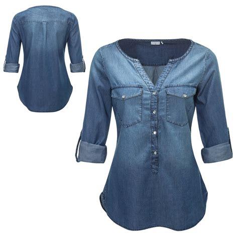 Denim Blouse jacqueline de yong s denim blouse sleeved blouse tunic 24