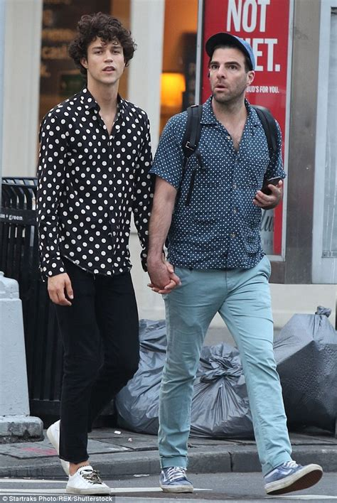 zachary quinto and beau miles mcmillan wear polka dot