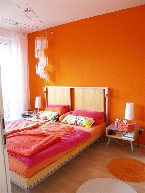 is orange a color for a bedroom 30 inspiring ripe orange room designs digsdigs