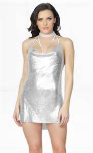 indie xo silver chain gang metal chainmail plunge v neck