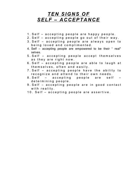 Self Acceptance Worksheets self acceptance worksheets photos getadating