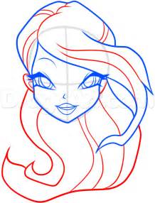 doodle drawing how to how to draw bloom from winx club step by step