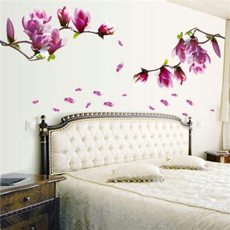 Walpaper Walsticker Dinding 10 M 50 Cm 70 50cm magnolia flower blossoms sticker wall sticker creative fashion wallpaper floral diy