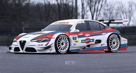 alfa romeo race cars alfa romeo giulia dtm racer has us drooling for the real thing
