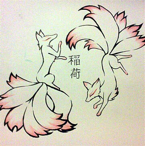 kitsune tattoo kitsune design by tamaarisu deviantart on