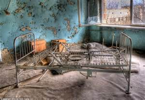 Broken Bed Frame Inside Chernobyl 191 S Abandoned Hospital 27 Years After