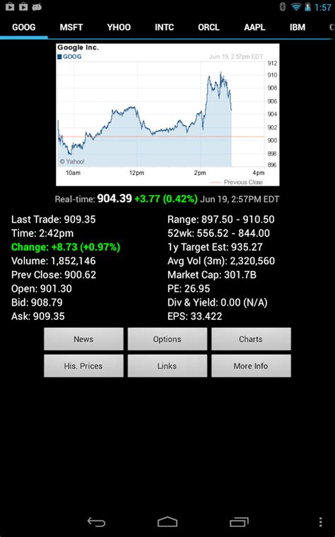 stock quote android apps on play - Android Stock Price