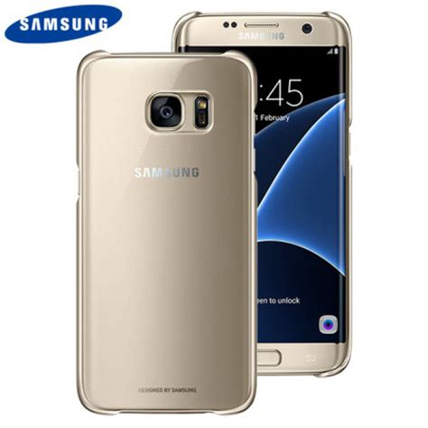 Samsung Back Pack Galaxy S7 Edge Original official samsung galaxy s7 edge clear cover gold mobilezap australia
